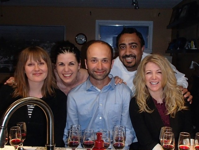 Erika, myself(Marcia), Dan, Harjeet (Chef) D'arci (missing - James)